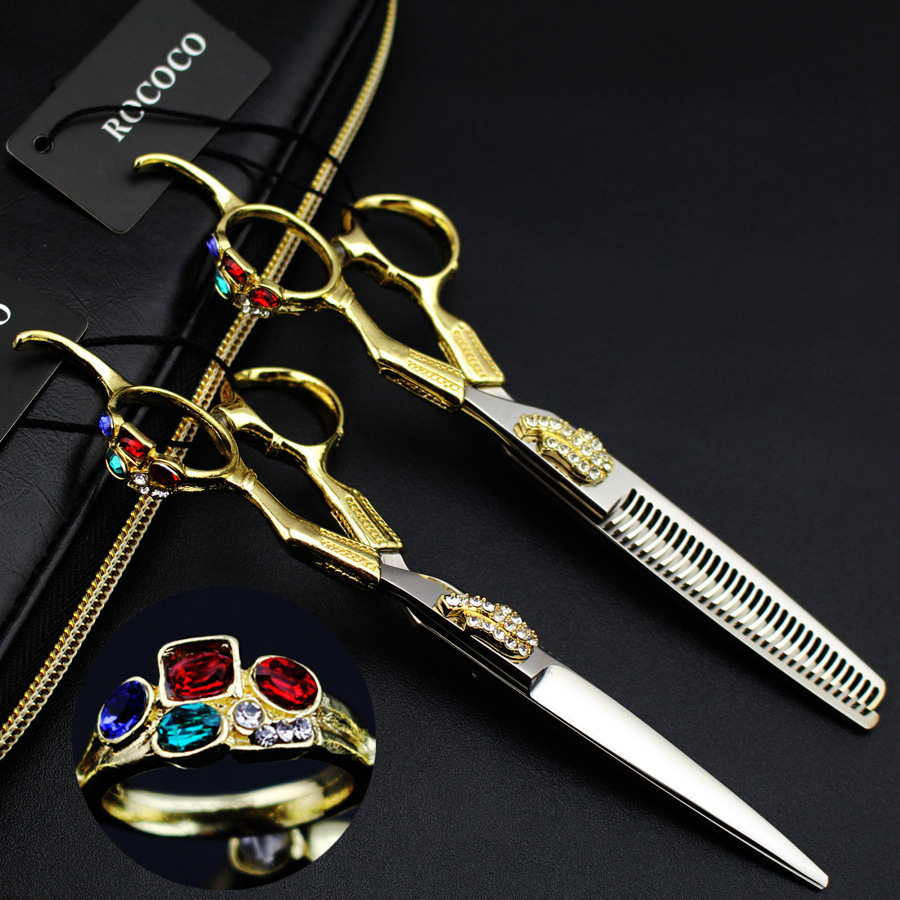 New arrivel Professional hairdressing scissors set hair cutting scissors barber shears thinning for hairdresser<br>