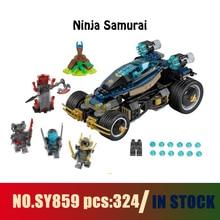 Models building toy SY859 324pcs Ninja Samurai Building Blocks Compatible lego ninjago 70625 toys & hobbies
