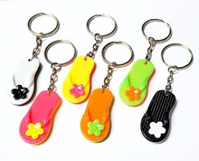 24pc Key Ring beach slipper flip flop Kid Bags Birthday Party Favor Pinata Bag Filler Loot Gag Game Gift Novelty Cup Cake Topper