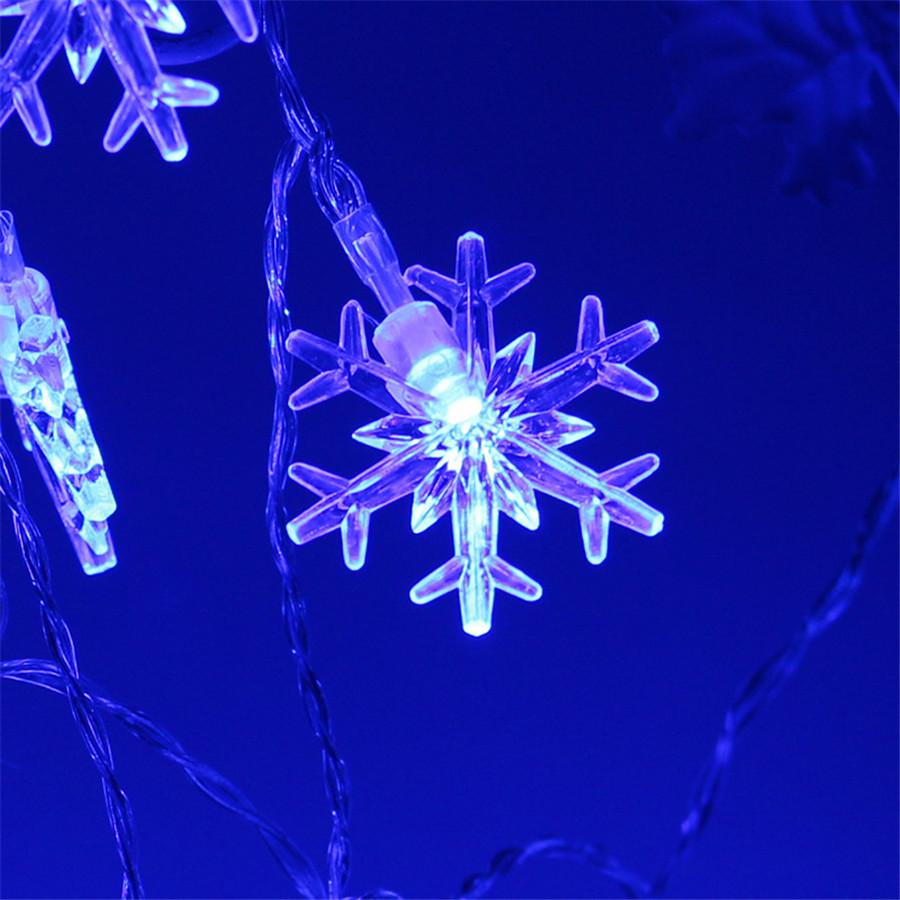 Lumehelvestega valguskett jõuludeks