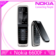 6600F 100% original phone Nokia 6600 Fold cell phone Purple, Blue, Black color in Stock Freeshipping(China)