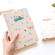 Korea stationery magnetic belt buckle notebook small  diary for school supplies notebook