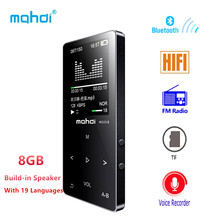 Bluetooth MP4 Player 8gb FM Radio Digital MP3 MP4 Speaker Touch Video Mini Lossless Voice Recorder Music Player Multi Language(China)