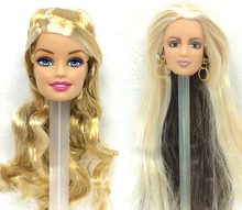 NK  Two Pcs/Set Doll Original head with With One Pair Of Earrings for each hot sale for Barbie Doll Best DIY Gift for Girls