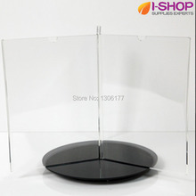 Rotating Table Sign Holder features A5 Frames on a Turntable Countertop Display 6 Sided YXZ-10(China)