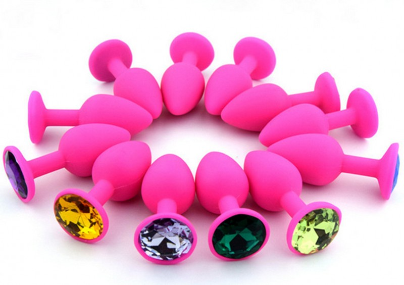 1PC Small Size 28mm*72mm Comfortable Pink Silicone Sex Anal Butt Plug Sextoys Buttplug Sex Toys Woman Men Gay Sex Products