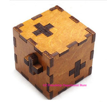 20Pcs/lot Switzerland cube Wooden Swiss Secert Puzzle Box wood brain teaser  toy+Worldwide FREE shipping Drop Shipping