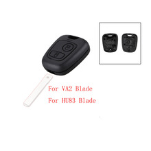 2 Buttons Remote Car Key Case Shell Fob For Citroen C1 C2 C3 Pluriel C4 C5 C8 Xsara Picasso Cover With Logo without Blade