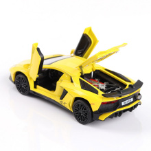 1/32 Lamborghine LP740 alloy car models Toy Vehicles Flashing pull back Diecasts(China)