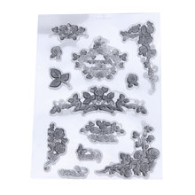 Silicone Seals Transparent DIY Scrapbooking Incitation Card Clear Stamp Flower Vine Small Pattern Handmade Paper Craft Decor(China)