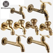 Decorative Outdoor Faucet Garden Bibcock Tap Bathroom Washing Machine /mop Faucet Free Shipping