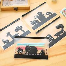 Creative Animals Cartoon Cosmetic Toiletry Case Pouch Holder Transparent Pencil Bag Multi Functional PVC Stationery Bag Storage