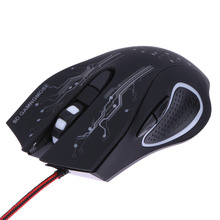 100% Brand New 3200DPI LED Optical 6D Button USB Wired Game Mouse for professional Pro Gamer Computer Laptop Mouse Mice