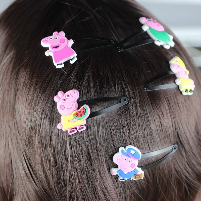isnice Hair Clip of hairgrips ,10pcs High Quality Hair Accessories of Pig , School Girl 2-10 Years Hair Ornaments BB Hair Clips(China)