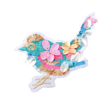 Hoomall 1PC Bird Embroidered Patches Big Appliques DIY Clothing Sew On Beaded Patch For Jeans Bags Fabric Sewing Accessories