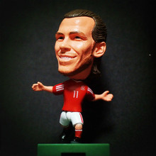 Soccerwe 2016 France EU Soccer Doll 6.5*3.5 cm Resin Action Wales No. 11 Gareth Bale Figure Mini Gift  Red