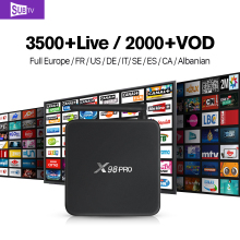 Global IPTV 3500 Channels Subtv Account Subscription X98PRO Android 6.0 TV Box Smart IPTV Europe Arabic Sweden French UK Top Box