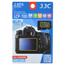 JJC LCP-70D Anti-smudge reflecting Anti-scratch High transmission LCD Guard Film Screen Protector for CANON EOS 80D 70D CAMERA(China)