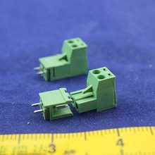 Free shipping 10 sets ht5.08 2pin  Terminal plug type 300V 10A 5.08mm pitch connector pcb screw terminal block