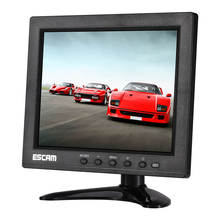 New ESCAM T08 8 Inch TFT LCD 1024x768 High Resolution CCTV Monitor with VGA HDMI AV BNC USB for PC CCTV Security Camera