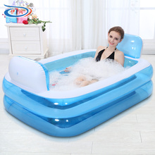 Inflatable bathtub folding tub thickening adult bathtub child bath basin bath bucket plastic PVC Swimming pool for children
