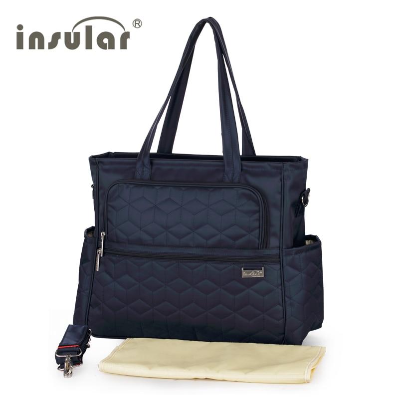 Insular Stroller Baby Nappy Bags Diaper Bag Mother Shoulder Bag Maternity Mummy Handbag Waterproof Large Baby Stroller Mummy Bag<br>
