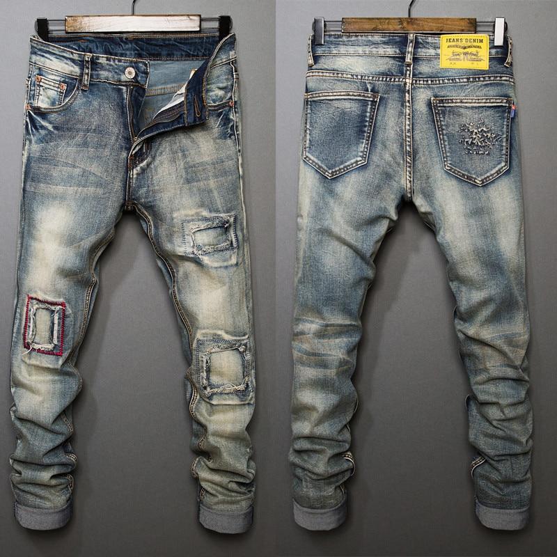 Ripped Mens Jeans Blue Gray Distressed Denim Straight Jeans Patchwork Loose Stylish Designer Jeans For Men Mj003 Soaringhawkonestopshop,Interior Design Small Apartment Ideas Space Saving