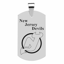 Custom Dog Tag Pendant Necklaces Stainless Steel Pendants NHL Ice Hockey new Jersey devil Team Personalized Dog Tags Jewelry(China)
