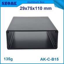 10 pieces electrical project abs box with certificate and box anodized Black color small aluminum box 29(H)x75(W)x110(L) mm