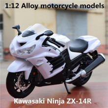 1:12 Alloy motorcycle models ,high simulation metal casting motorcycle toys,Kawasaki Ninja ZX-14R,free shipping