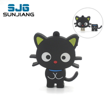 Cartoon cute black cat usb flash drive pen drive real capacity 64GB pendrive 32GB 16GB 8GB 4GB memory stick U Disk Hot girl gift