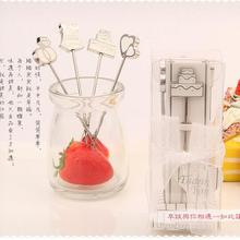 100sets (4pcs/set) wedding favors gifts I Do, I Do Hors d'oeuvre white Picks Fruit fork + DHL Free Shipping