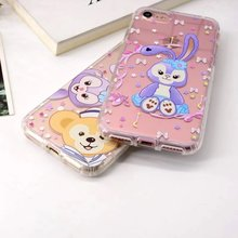 New Cute Cartoon Duffy Bear Stella Lou Ballet Rabbit Transparent Soft TPU Phone Case for iPhone 8 6 6s Plus 7 7 Plus Girl Gift