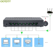 8-Port 10/100Mbps Ethernet Network Switch HUB Desktop Mini Fast LAN Switcher Adapter D14 Drop shipping(China)