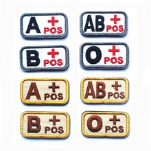 5pcs Blood Type Tactical Patch Military Morale Hook And Loop Patch Cloth Army Badge Fabric Combat Armband