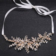 Metting Joura Vintage Wedding Bridal Crystal Rhinestone Beads Braided Long Headband Hair Band Hair Accessories(China)