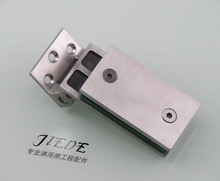 304 stainless steel glass door clip bathroom shower room partition free glass hinge clip solid glass hinge