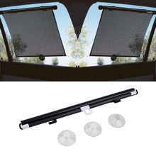 Black Auto Accessories Retractable Side Window Car Sun shade Curtain Automatic Sunscreen Roller Blinds Window Film Hot Selling(China)