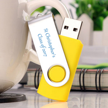 75PCS/Lot Swivel Pen Drive 2GB USB Flash Drive Promotional Customized Logo Printing for Company Gifts