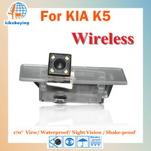 Wireless 1/4 Color CCD Rear View Camera / Parking Camera For KIA K5 Night Vision / 170 Degree / Waterproof(China)