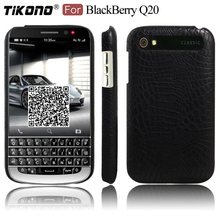 TIKONO For BlackBerry Q20 Case Cover 3.5 inch Crocodile Skin Leather PC Plastic Hard Back Cover Phone Case for BlackBerry Q20(China)
