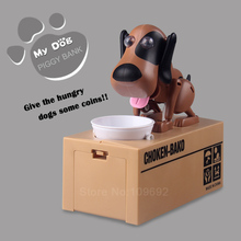 So Cute Piggy Bank Dog Super Fun Cartoon Money-boxes Automatic Stole Coin Saving Banks Money Saving Box Toys Gifts for kid(China)