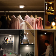Wardrobe Hallway Magnetic Wireless Motion Sensor LED Night light Wall lamp Battery Power Stair light Smart On/Off(China)