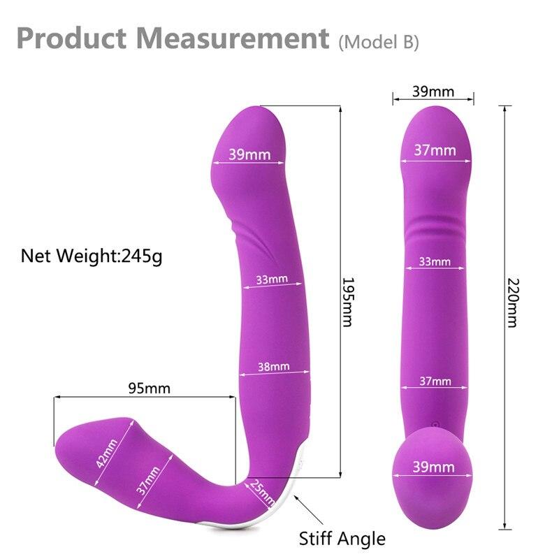 Strapless Strapon Dildo Vibrator Wireless Remote Control Strap on Lesbian Double Penetration Dildo Vibrator Sex Toys for Woman 3