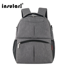 INSULAR Large Baby Backpack Diaper Bag Organizer Baby Stroller Bag Maternity Bag For Mother Handbag Nappy Bags Diaper Backpack(China)