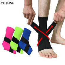 1PCS Adjustable Bandage Compression Ankle Protector Basketball Football Ankle Support Sports Safety Soccer Ankle Guard 4 Colors(China)