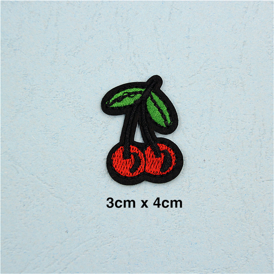 PF Fine Stripe Fruit Patch Pineapple Embroidery Patch for Clothing Applique  Accessories Tops Bag Iron On Patches Stickers TB211 - us234