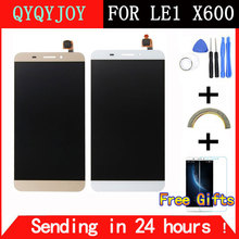 QYQYJOY Brand 5.5 inch White/Gold For Letv X600 LCD Display Touch Screen Digitizer Replacement For Letv Le One 1 Cell Phone