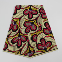 African Print material High Quality African Fabric Real Wax Print Ankara Dress Styles 6yards African Super Wax Fabric for dress