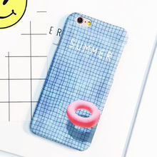 LACK Fashion Blue Grid Lines Case For iphone 6 Case For iphone 6S 6 PLus Phone Cases Cartoon Swimming Pool Life Buoy Back Cover(China)